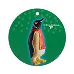 Whaddup? Penguin Xmas Ornament (Round)