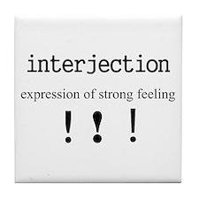 Interjection Tile Coaster