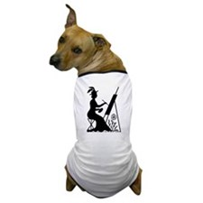 Painting Woman Dog T-Shirt