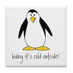cute penguin Tile Coaster