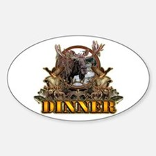 wild game DINNER Oval Decal