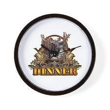 wild game DINNER Wall Clock