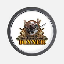 wild game DINNER Wall Clock
