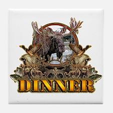 wild game DINNER Tile Coaster