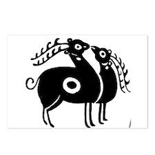 Persian Deer Postcards (Package of 8)