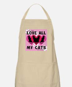 LOVE ALL MY CATS BBQ Apron
