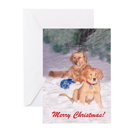 Two Golden Friends Christmas Card
