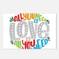 All you need is love is a Postcards (Package of 8)