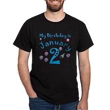 January 2nd Birthday T-Shirt