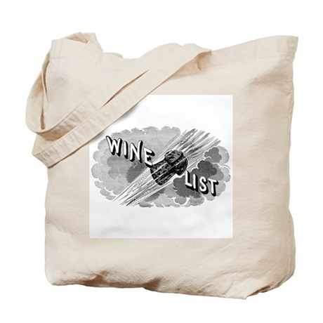 Wine List w cork Tote Bag