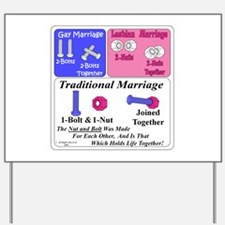 Cute Traditional marriage Yard Sign