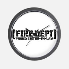 Proud Sister-in-law Fire Dept Wall Clock