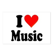 I Love Music: Postcards (Package of 8)