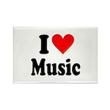 I Love Music: Rectangle Magnet