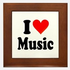 I Love Music: Framed Tile