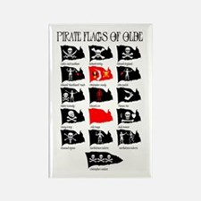 Pirate Flags- Jolly Roger Rectangle Magnet (10 pac