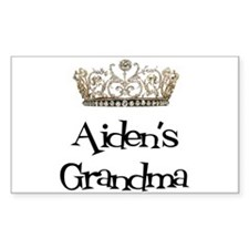 Aiden's Grandma Rectangle Decal