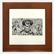 Calavera Oaxaquena Framed Tile