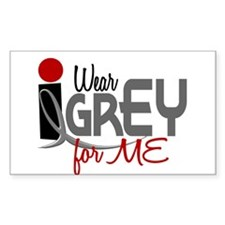 I Wear Grey For ME 32 Rectangle Decal