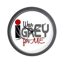 I Wear Grey For ME 32 Wall Clock