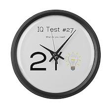 IQ Test #27 Large Wall Clock