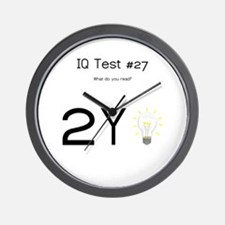 IQ Test #27 Wall Clock