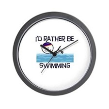 I'd Rather Be Swimming Wall Clock