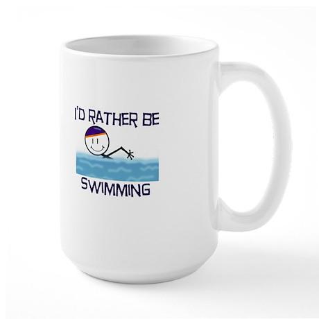 I'd Rather Be Swimming Large Mug