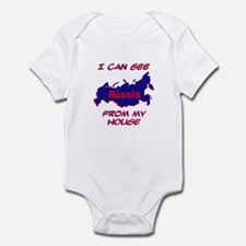 I Can See Russia From My House Infant Bodysuit