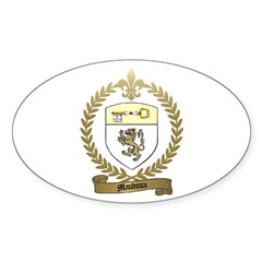 MAUDOUX Family Crest Oval Decal