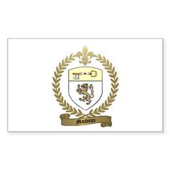 MAUDOUX Family Crest Rectangle Decal