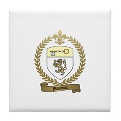 MAUDOUX Family Crest Tile Coaster