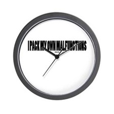 I PACK MY OWN MALFUNCTIONS Wall Clock