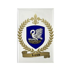LEJEUNE Family Crest Rectangle Magnet (10 pack)
