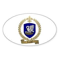 LEJEUNE Family Crest Oval Decal