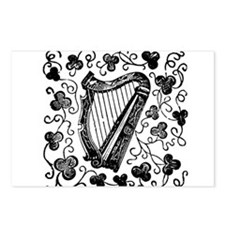 Clover Harp Postcards (Package of 8)