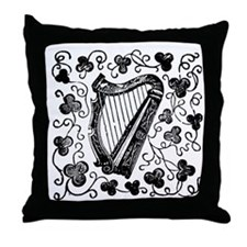 Clover Harp Throw Pillow