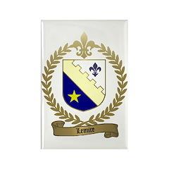LEMIRE Family Crest Rectangle Magnet (100 pack)