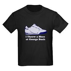 I Threw a Shoe at George Bush Kids Dark T-Shirt