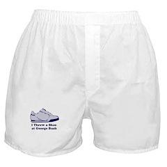 I Threw a Shoe at George Bush Boxer Shorts
