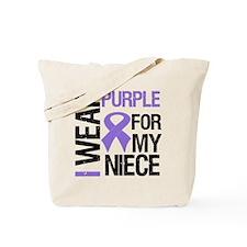IWearPurple Niece Tote Bag