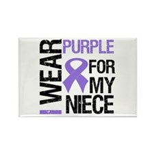 IWearPurple Niece Rectangle Magnet
