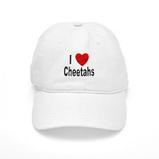 I Love Cheetahs Baseball Cap
