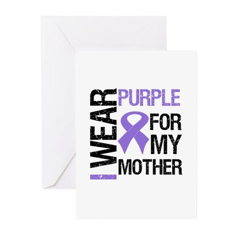 IWearPurple Mother Greeting Cards (Pk of 10)