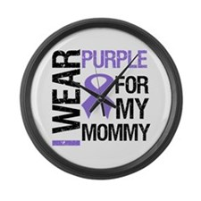 IWearPurple Mommy Large Wall Clock