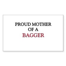 Proud Mother Of A BAGGER Rectangle Sticker