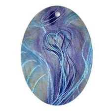 Spiritual Transformation Angel Oval Ornament
