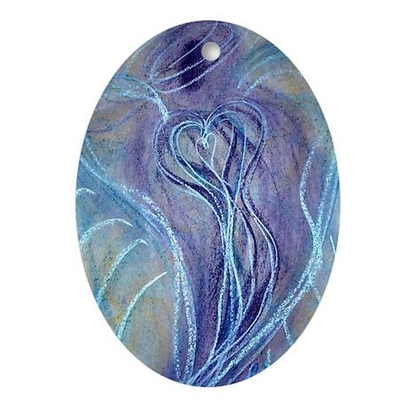 Spiritual Transformation Angel Oval Ornament