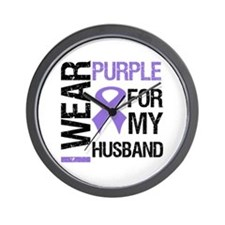 IWearPurple Husband Wall Clock