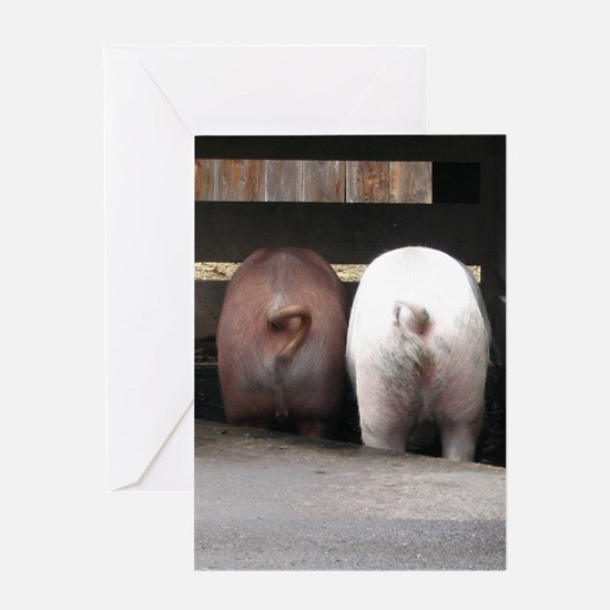 Pig Friends Greeting Card